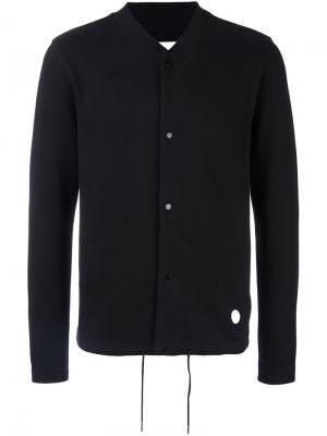 Куртка бомбер на кнопках Folk. Цвет: чёрный