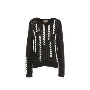 Пуловер с круглым вырезом из тонкого трикотажа RENE DERHY. Цвет: черный/ белый