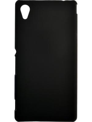 Накладка для Sony Xperia M4 Aqua skinBOX. Серия 4People. Защитная пленка в комплекте. skinBOX. Цвет: черный