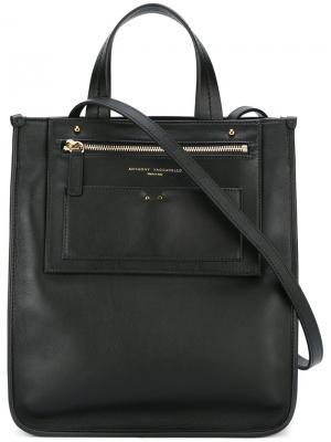 Рюкзак с верхней ручкой Anthony Vaccarello. Цвет: чёрный