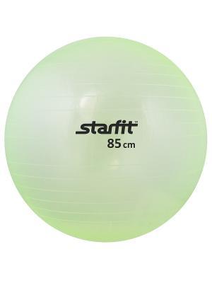 Мяч гимнастический STARFIT GB-105 85 см, прозрачный, зеленый. Цвет: зеленый
