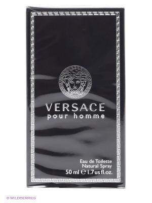Versace Pour Homme М Товар Туалетная вода спрей 50мл. Цвет: черный