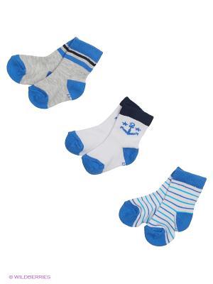 Носки, 3 пары ARTI. Цвет: голубой, белый, синий