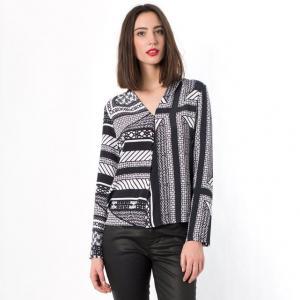 Рубашка с длинными рукавами TWIST&TANGO. Цвет: черный/ белый