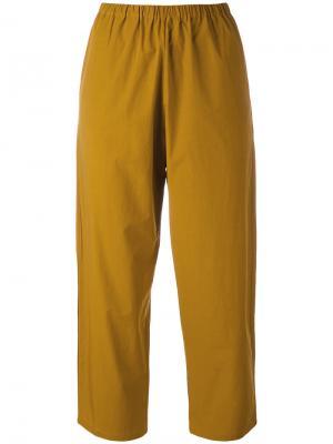 Укороченные брюки Apuntob. Цвет: жёлтый и оранжевый