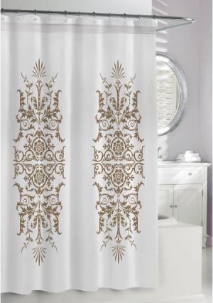 Штора для ванной Garden. Цвет: белый (молочный, коричневый)