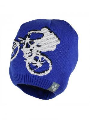 Вязаная детская шапка PAUL HUPPA. Цвет: синий