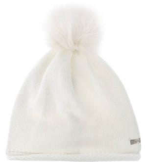 Белая шапка с помпоном Capo. Цвет: белый