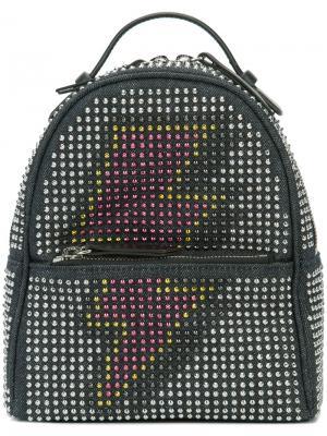Рюкзак с заклепками Les Petits Joueurs. Цвет: синий