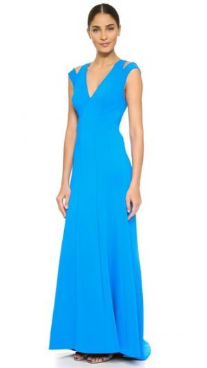 Вечернее платье без рукавов Zac Posen. Цвет: ультрамарин