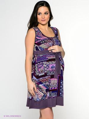 Сарафан для беременных ФЭСТ. Цвет: фиолетовый, бордовый, сливовый