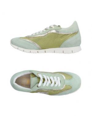 Низкие кеды и кроссовки D'ACQUASPARTA. Цвет: светло-зеленый