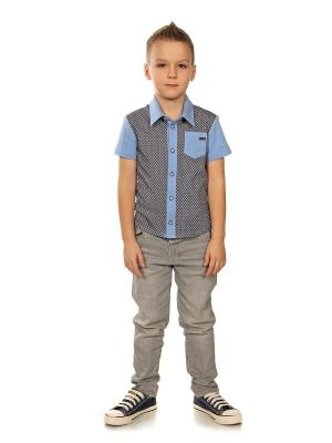 Рубашка LEMUR. Цвет: голубой