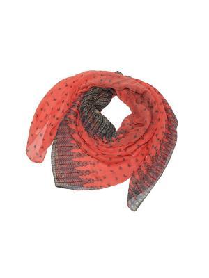 Платок Ethnica. Цвет: бирюзовый, коралловый