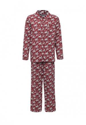 Пижама Topman. Цвет: бордовый