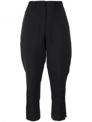 Укороченные брюки Fendi. Цвет: чёрный