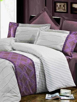 Комплект постельного белья Орнамент Магия Ночи. Цвет: светло-серый, фиолетовый