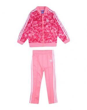 Спортивный костюм ADIDAS ORIGINALS. Цвет: розовый