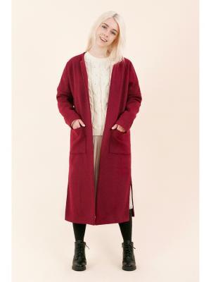 Пальто Minimal (ягода) MONOROOM. Цвет: темно-красный