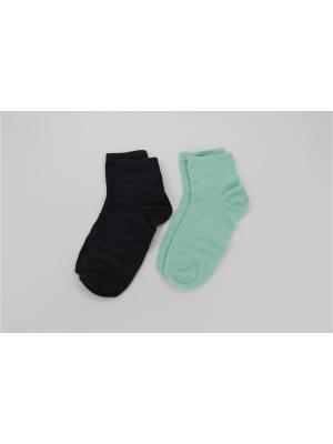 Носки, 2 пары Гамма. Цвет: серый, зеленый