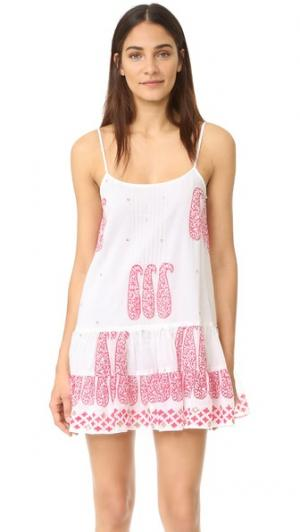 Пляжное платье без рукавов Juliet Dunn. Цвет: белый/красный