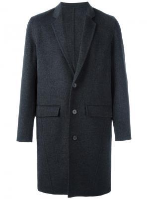 Пальто на пуговицах Harmony Paris. Цвет: серый
