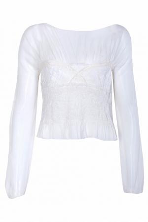 Блуза Nina Ricci. Цвет: белый