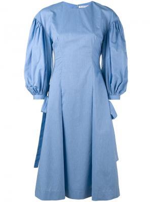 Платье Jamie Rejina Pyo. Цвет: синий
