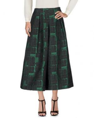 Длинная юбка GARAGE NOUVEAU. Цвет: стальной серый
