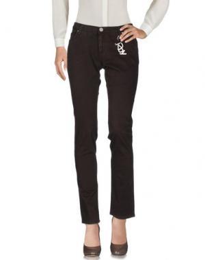Повседневные брюки ROŸ ROGER'S CHOICE. Цвет: темно-коричневый