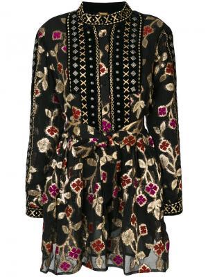 Платье Loren с металлизированной отделкой Dodo Bar Or. Цвет: чёрный