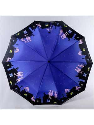 Зонт Zest. Цвет: синий, желтый, черный