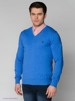 Пуловер Forecast. Цвет: лазурный