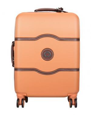 Чемодан/сумка на колесиках DELSEY. Цвет: оранжевый