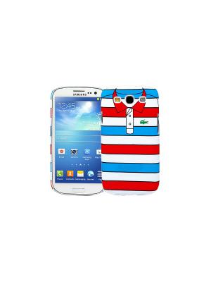 Чехол для Samsung Galaxy S3 Red with blue stripes, серия Sports shirt Kawaii Factory. Цвет: белый, синий, красный