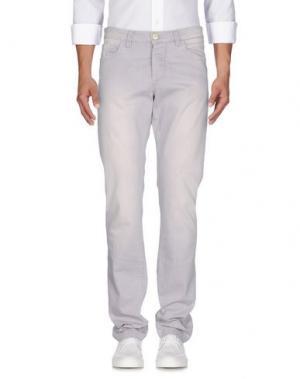 Джинсовые брюки BARBA Napoli. Цвет: сиреневый