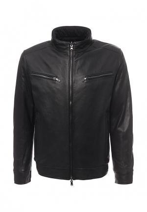 Куртка кожаная Baldinini. Цвет: черный