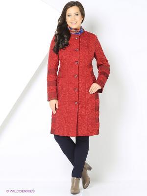 Пальто Brillare. Цвет: красный