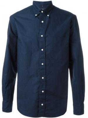Оксфордская рубашка Gitman Vintage. Цвет: синий