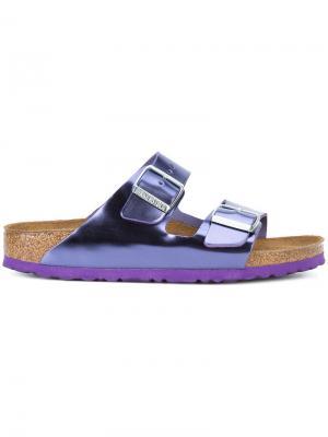 Лакированные сандалии с пряжками Birkenstock. Цвет: розовый и фиолетовый