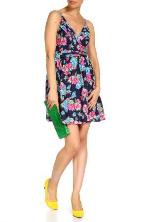 Платье Mela london. Цвет: navy, multicolor