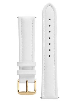 Гипоалергенный ремешок для часов из кожи теленка. Ширина от 16 до 20 мм Signature. Цвет: белый