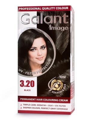 Cтойкая крем-краска для волос  GALANT 3.20 черный, 115 мл., (Болгария) Image. Цвет: зеленый