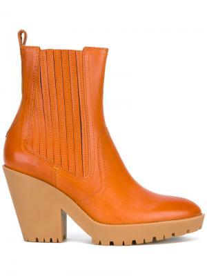 Ботильоны с острым носком Maison Margiela. Цвет: жёлтый и оранжевый