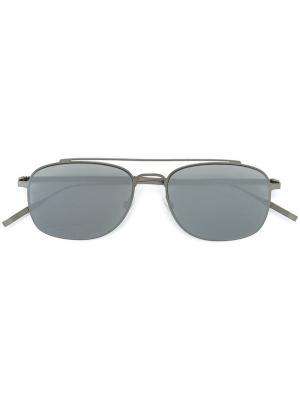 Солнцезащитные очки Tomas Maier Eyewear. Цвет: металлический