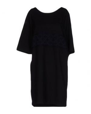 Короткое платье PAOLO ERRICO. Цвет: черный