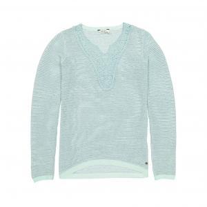 Пуловер с круглым вырезом из хлопка KAPORAL 5. Цвет: зеленый сине-зеленый