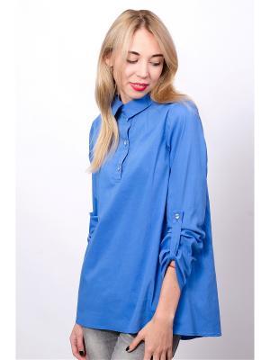 Блузка Mirella Sole. Цвет: лазурный