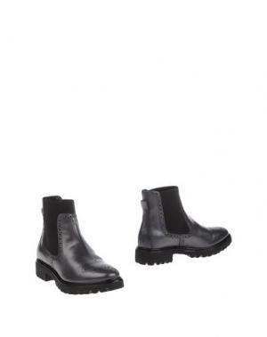 Полусапоги и высокие ботинки FRATELLI KARIDA. Цвет: свинцово-серый