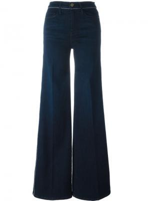 Широкие джинсы Frame Denim. Цвет: синий
